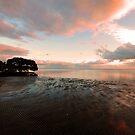 Nudgee Beach Sunrise At Low Tide. Brisbane, Qld, Australia. by Ralph de Zilva