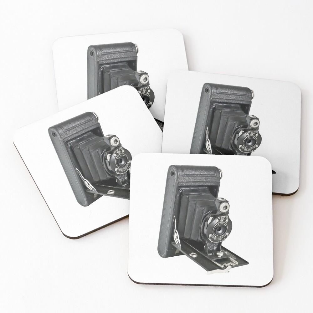 Kodak Hawkeye Vintage Camera Coasters (Set of 4)