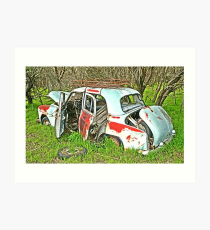 Rusted Wreck Art Print