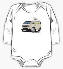 VW T25 / T3 [SQ] (High Top) White One Piece - Long Sleeve