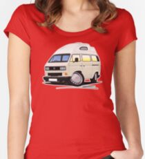 VW T25 / T3 [SQ] (High Top) White Women's Fitted Scoop T-Shirt