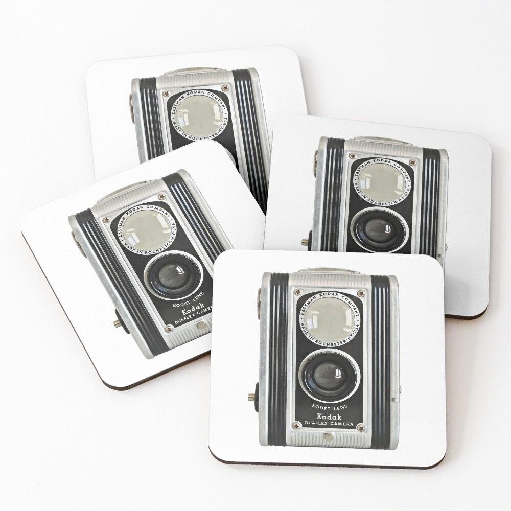 Kodak Duaflex Vintage Camera Coasters (Set of 4)