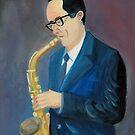 The Saxophonist by Kostas Koutsoukanidis