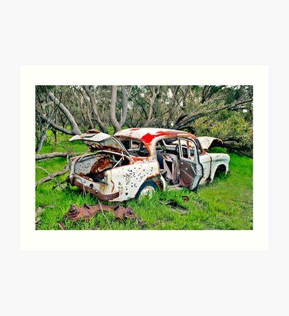 Rusted Wreck II Art Print