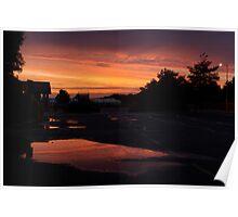 Carpark at sunset Poster