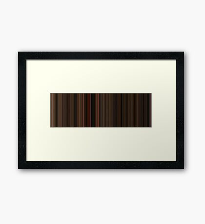 Moviebarcode: Gone with the Wind (1939) [Simplified Colors] Framed Print