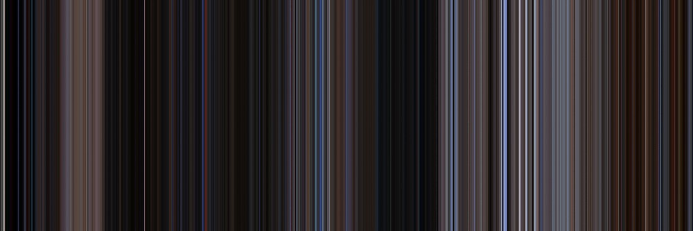 Moviebarcode: The War of the Worlds (1953) [Simplified Colors] by moviebarcode