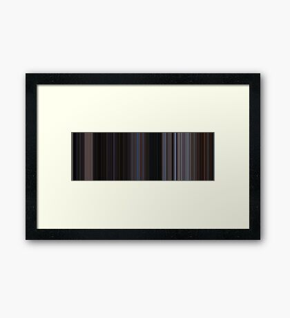 Moviebarcode: The War of the Worlds (1953) [Simplified Colors] Framed Print