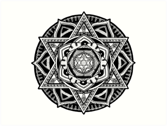 the gate sacred geometry mandala art prints by zak korvin redbubble