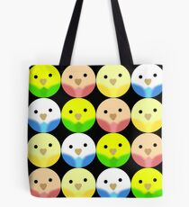 Roly Poly Parakeets Tote Bag