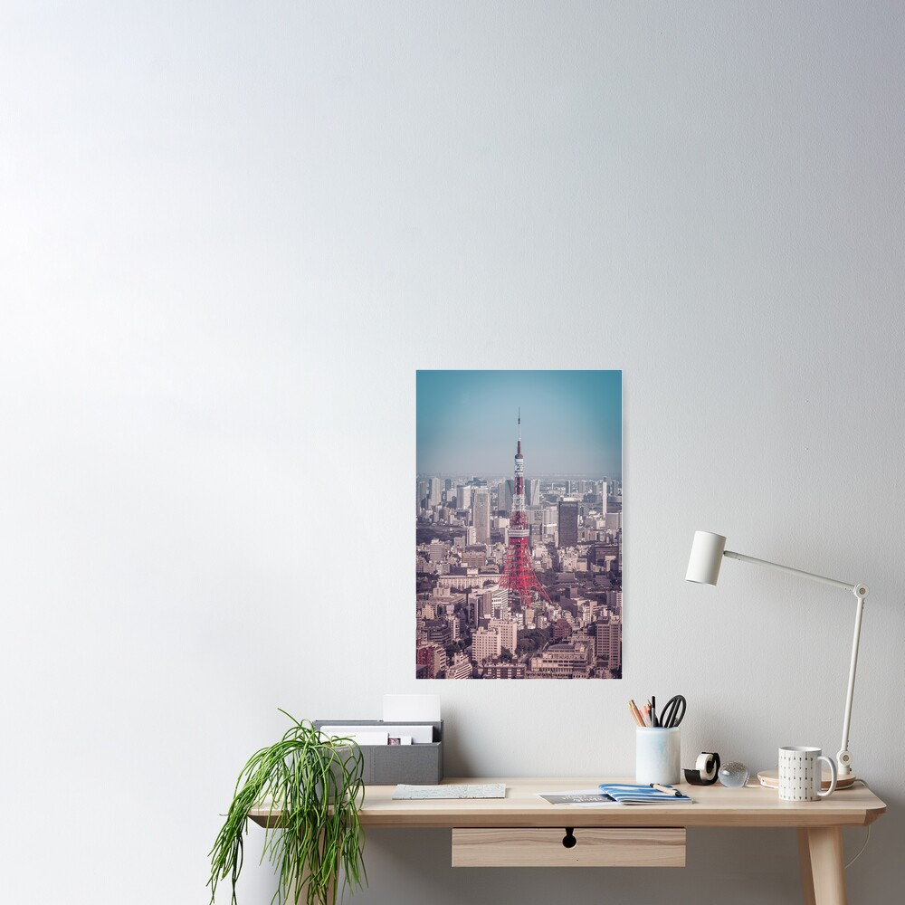 Tokyo Tower Day Poster