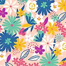 Floral Explosion - Bright by latheandquill