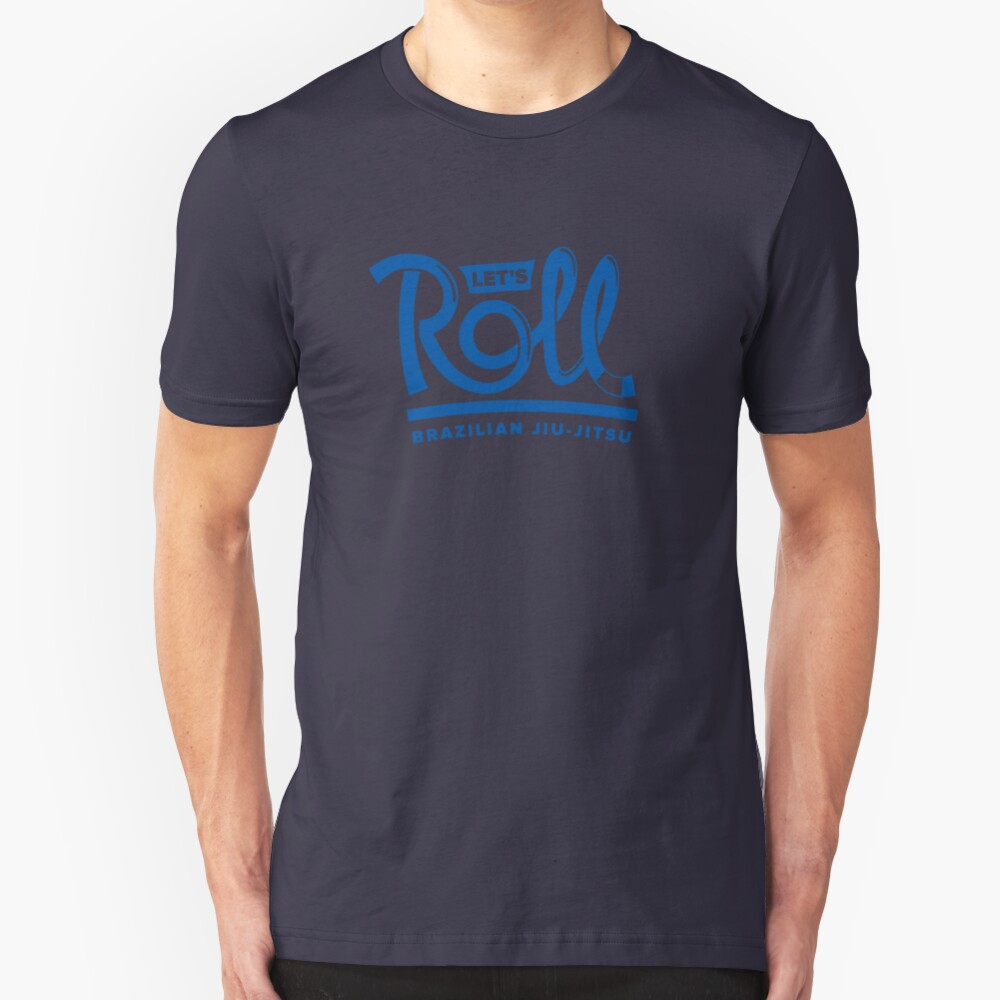 Let's Roll Brazilian Jiu-Jitsu Blue Belt Slim Fit T-Shirt