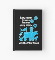 Every Patient Leaves A Footprint On My Heart Veterinarian Hardcover Journal