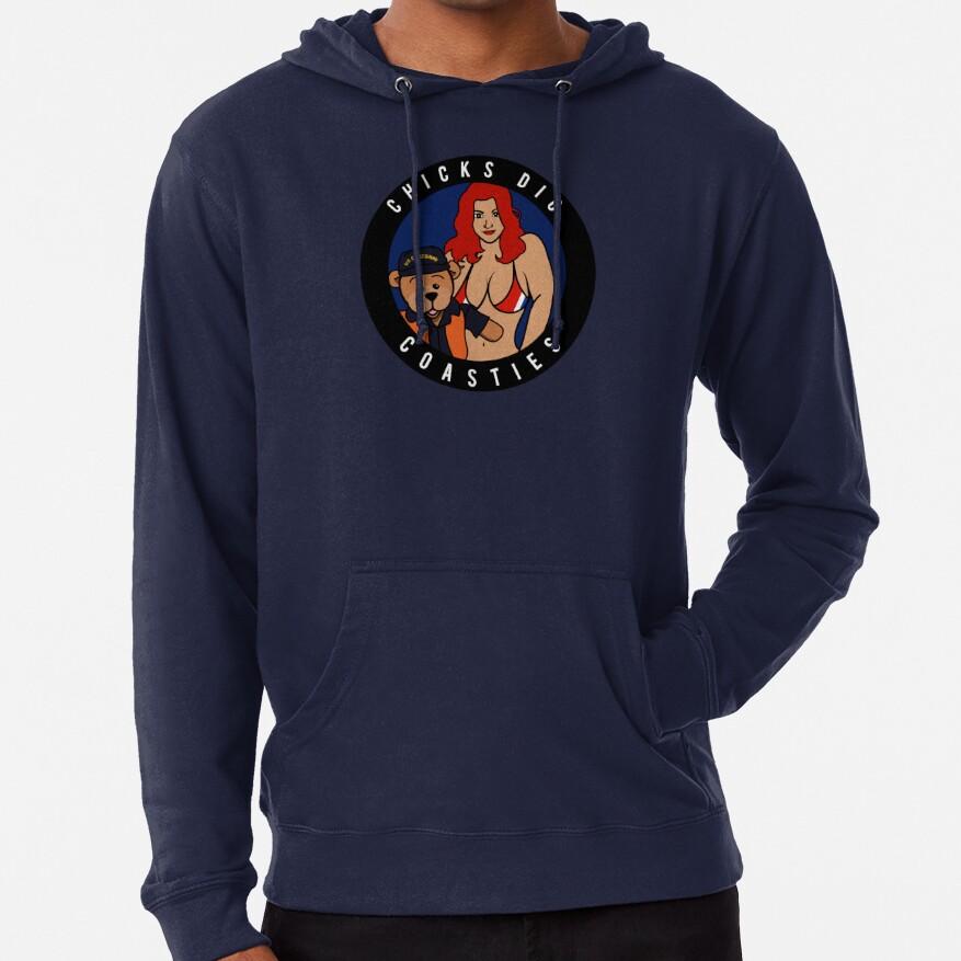Chicks Dig Coasties - Red Hair Lightweight Hoodie