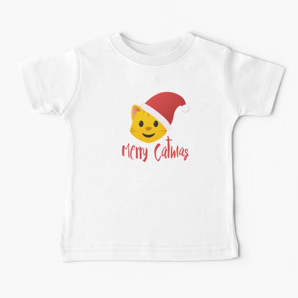 Merry Catmas emoji Baby T-Shirt