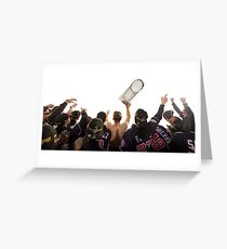 carrying trophy  Greeting Card