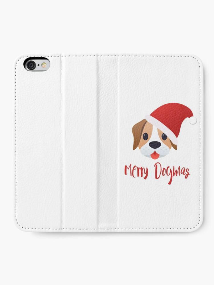 Alternate view of Merry Dogmas emoji iPhone Wallet