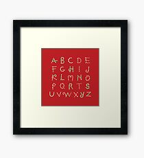 ABC Lollipops Framed Print