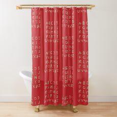 ABC Lollipops Shower Curtain
