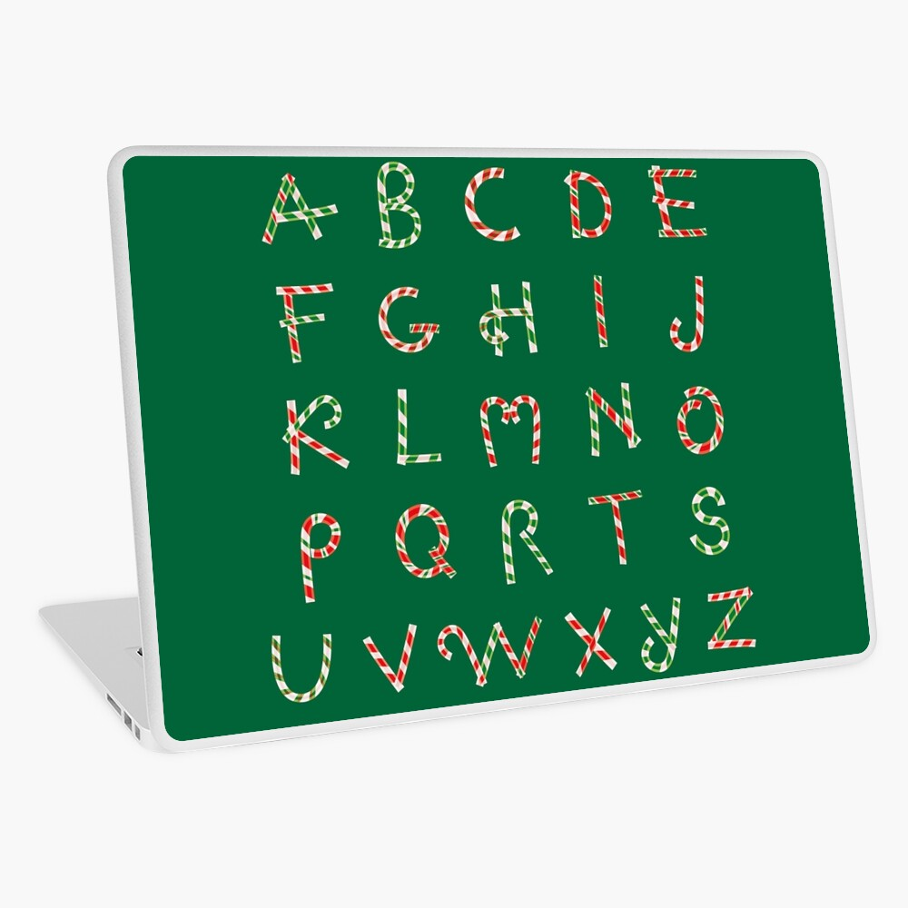 Christmas ABC Lollipops  Laptop Skin