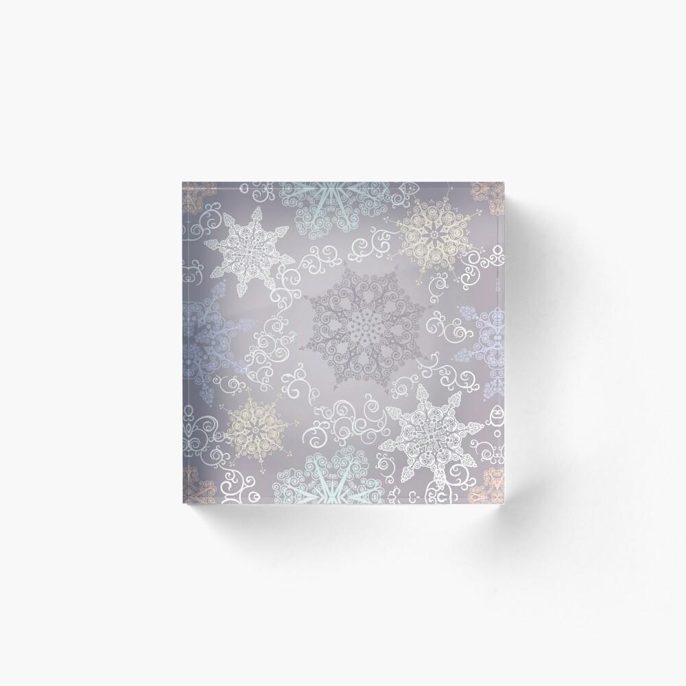 Winter Acrylic Block