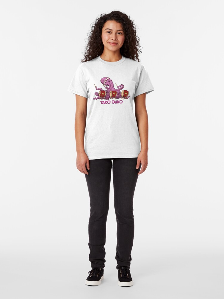 Alternate view of Tako Taiko - Musical Multi-Limbed Mollusk Classic T-Shirt