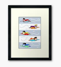 superheroes Framed Print