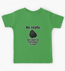 Minecraft - Christmas Coal Kids Tee