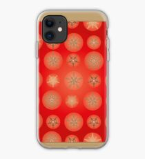 Christmas - Golden Stars iPhone Case