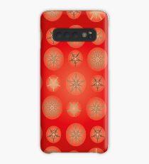 Christmas - Golden Stars Case/Skin for Samsung Galaxy
