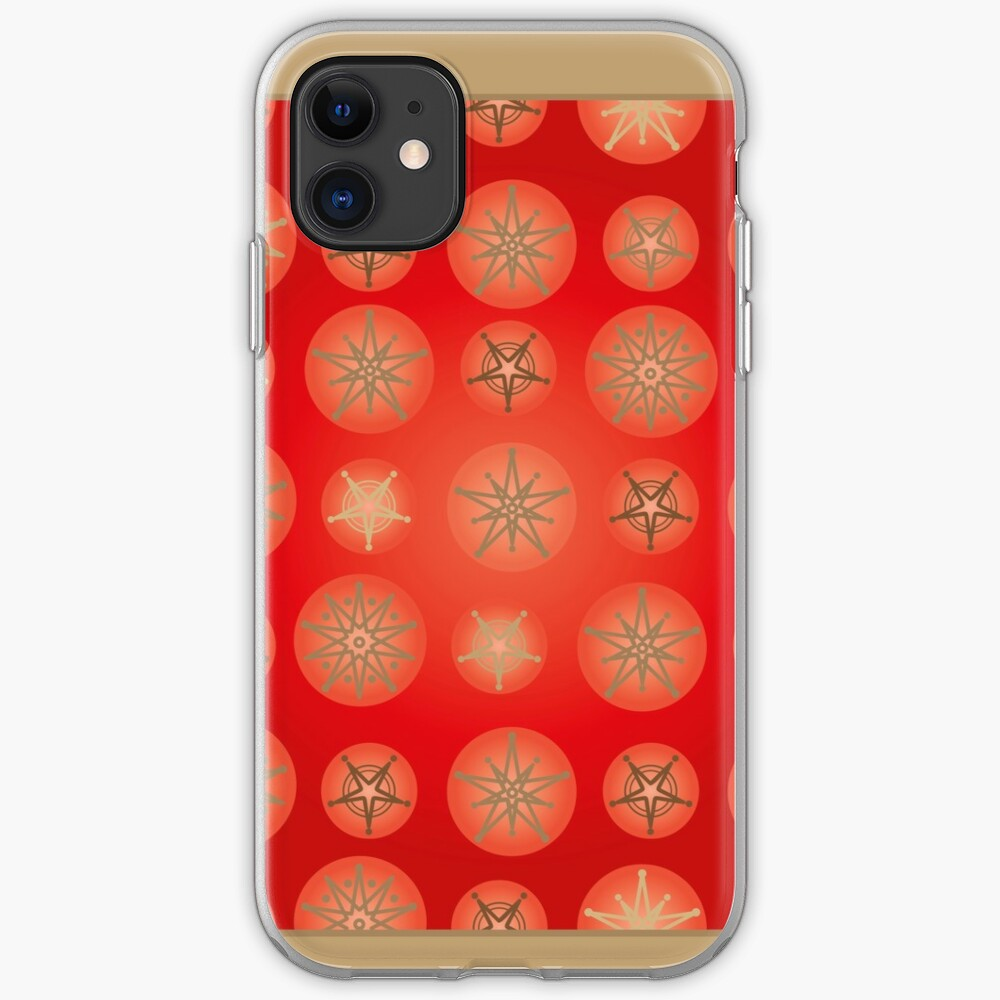 Christmas - Golden Stars iPhone Soft Case
