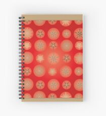 Christmas - Golden Stars Spiral Notebook