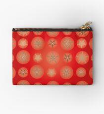 Christmas - Golden Stars Zipper Pouch