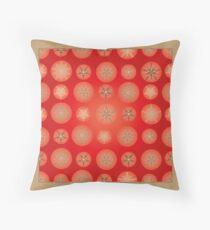 Christmas - Golden Stars Throw Pillow