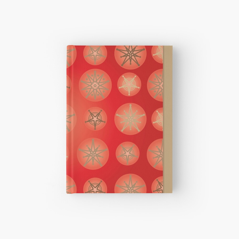 Christmas - Golden Stars Hardcover Journal