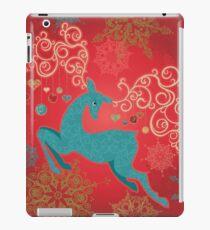 Christmas Deer on Red   iPad Case/Skin
