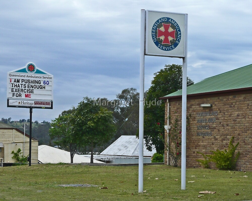 Nanango Ambulance Station by Margaret  Hyde