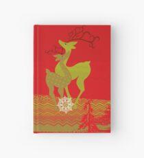 Winter Couple Deer Hardcover Journal