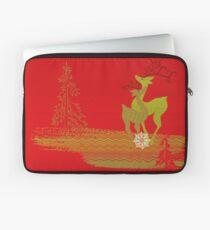 Winter Couple Deer Laptop Sleeve