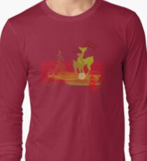 Winter Couple Deer Long Sleeve T-Shirt
