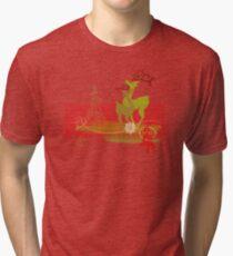 Winter Couple Deer Tri-blend T-Shirt