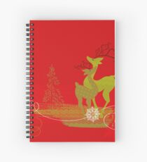Winter Couple Deer Spiral Notebook
