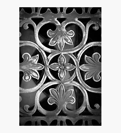 Gate of Iron (Black and White) Photographic Print