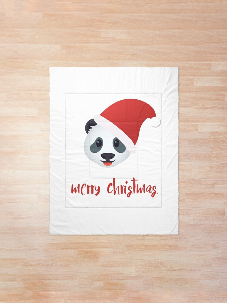 Alternate view of Have a panda merry christmas Comforter