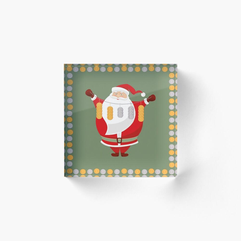 Lucky Santa Claus Acrylic Block