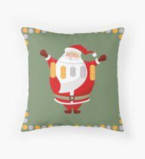 Lucky Santa Claus Throw Pillow