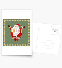 Lucky Santa Claus Postcards