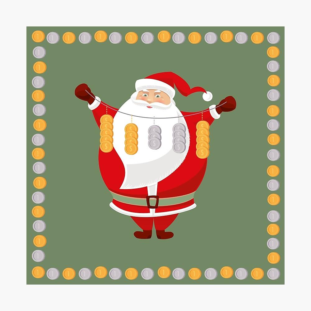 Lucky Santa Claus Photographic Print