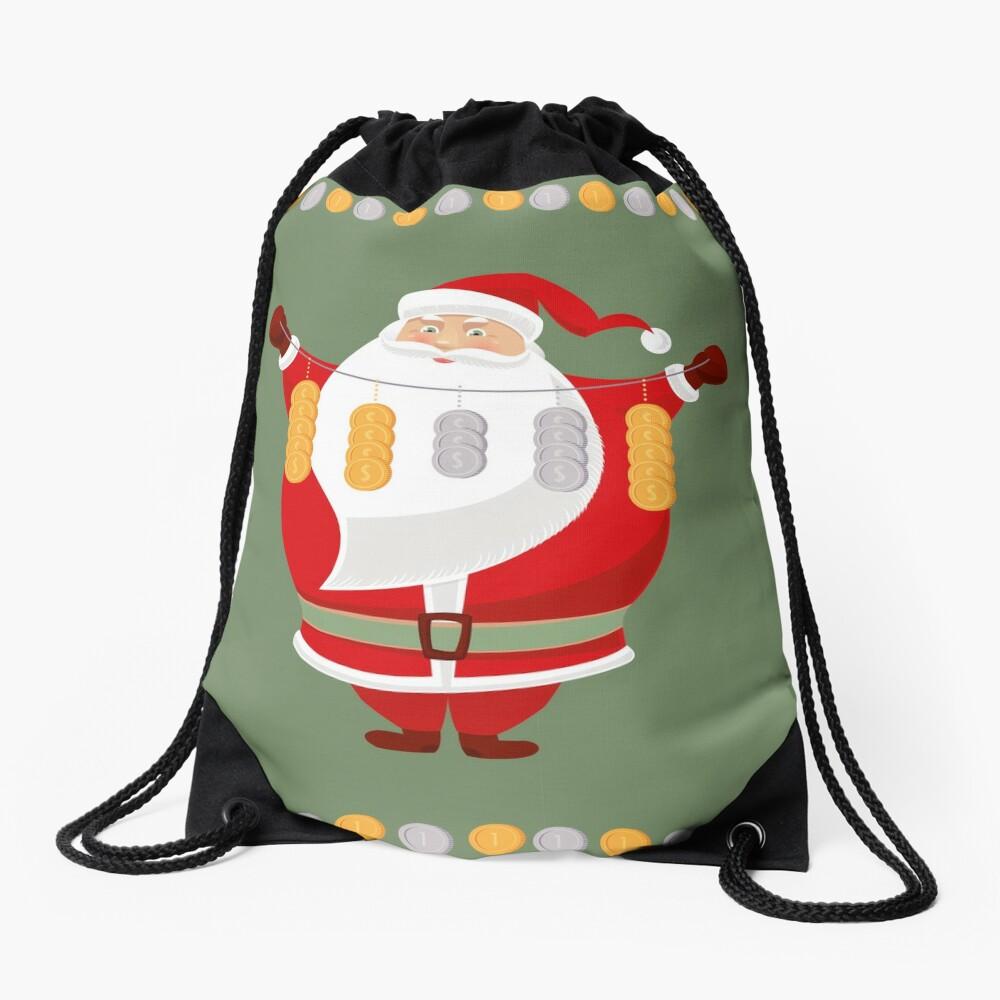 Lucky Santa Claus Drawstring Bag